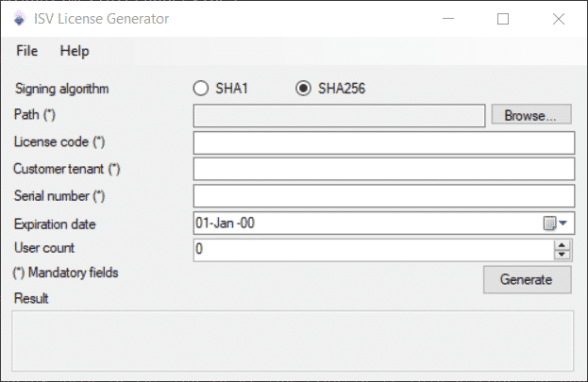 ISV License Generator