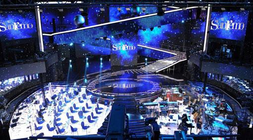 la scenografia di Castelli per Sanremo 2011