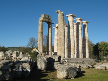 The temple of Nemeian Zeus, Nemea, Greece