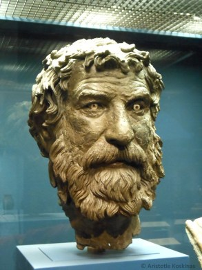 """The head of the statue dubbed the """"Philosopher of Antikythera"""""""