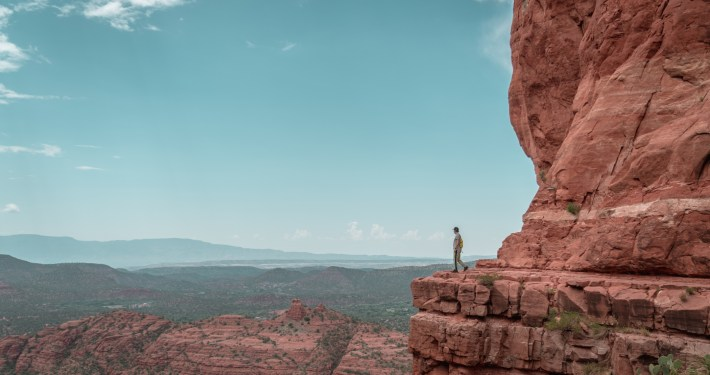 Hiker in Sedona Arizona