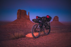 Bikepacking in Monument Valley