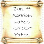 Jan. 4 Random Notes On Our Yotes