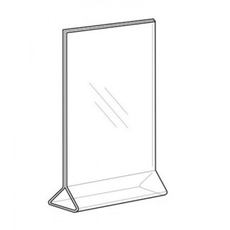 Sign Holder 4×6, Top-Load, Vertical