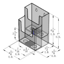 DS 802 CI 2 Tier Wall Mount or Countertop Brochure Holder for Trifold Literature up to 4 3/8″w (Pack of 36/$2.40 each)