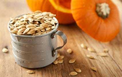 Perfect for snack time, home-roasted pumpkin seeds are simple, tasty and fun.