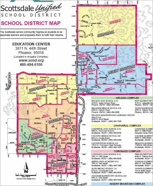 Scottsdale School District Boundary Maps Arizona Real Estate Notebook