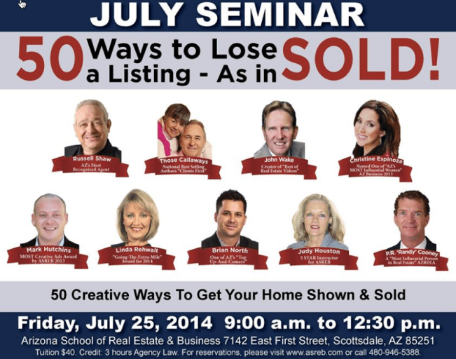 July Seminar at Arizona School of Real Estate & Business