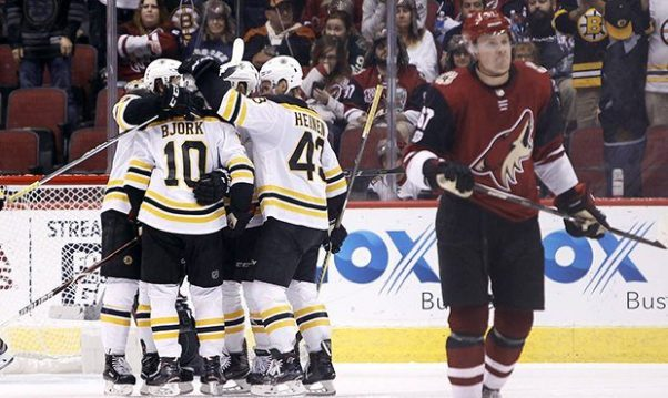 Image result for boston bruins vs arizona coyotes