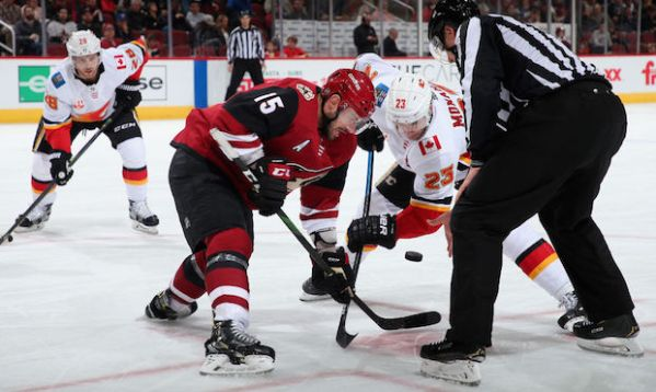 Arizona Coyotes bested by surging Flames in return to home ice