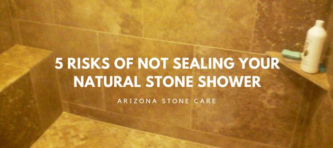 5 risks of not sealing your tile shower