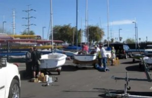 Fixing up the ASF Capri 14.2 sailboats in preparation for spring classes.
