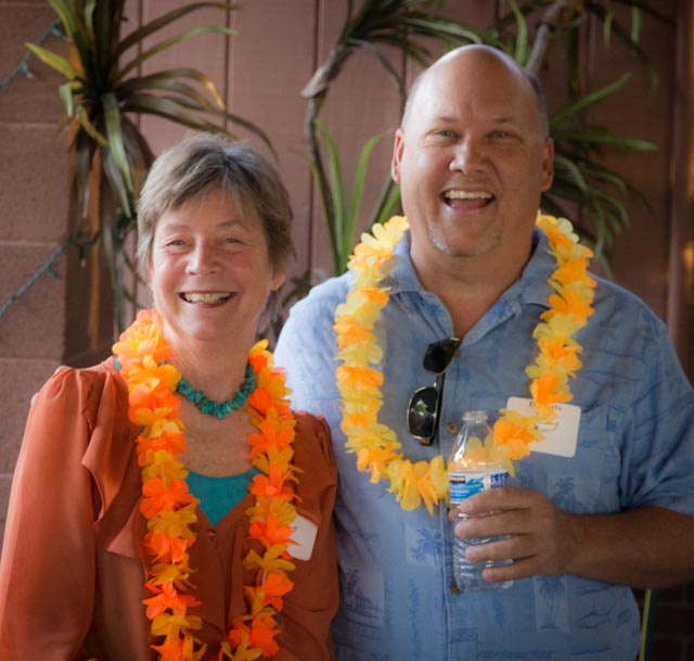 Faye Hubele and Dennis Davis.