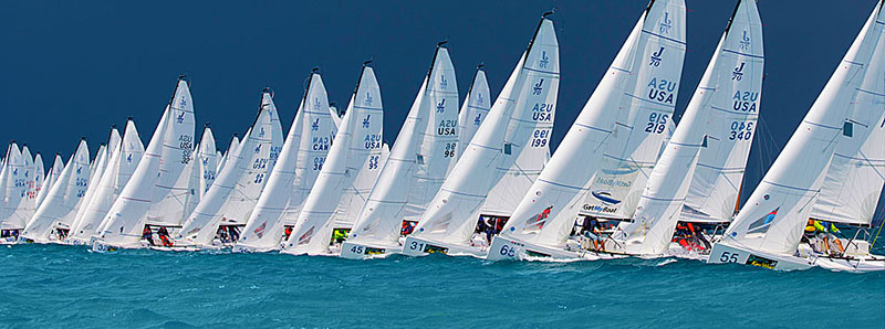 On the line for a J/70 regatta.