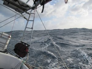 Getting knocked around in the Southern Ocean.
