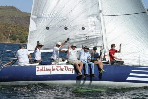Fleet champs celebrating on Rolling on the Deep. Photo: Chris Smith