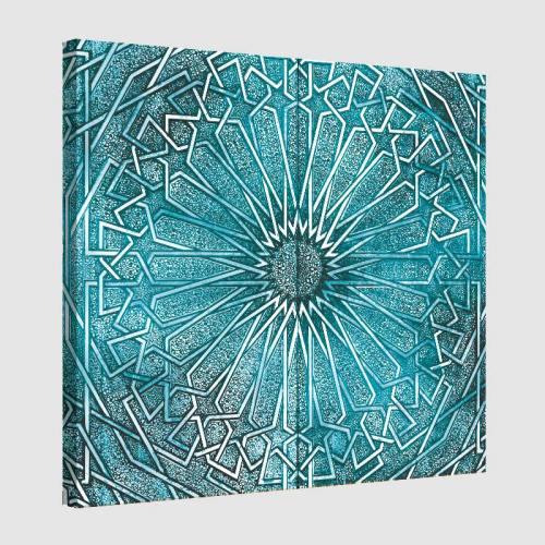 Tableau oriental ornement métal-turquoise