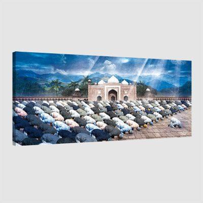 Tableau oriental musulmans prière