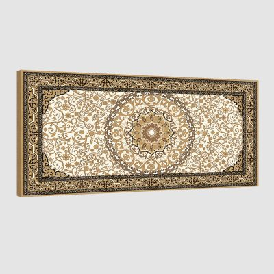 Tableau oriental tapis beige