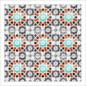 poster-oriental-mosaique-coloree-rouge