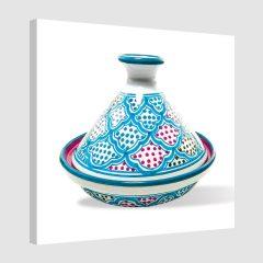 Tableau oriental tajine unitaire-turquoise
