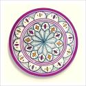 Poster oriental-assiette unitaire-violet
