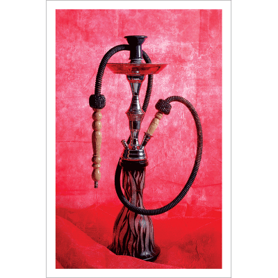Poster oriental-chicha-rouge