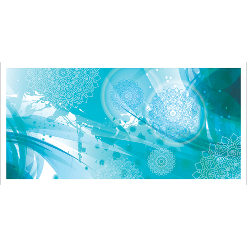 Poster oriental-floral-bleu
