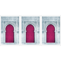 Poster arabe-porte triptyque-fuchsia
