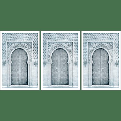 Poster arabe-porte triptyque-noir et blanc