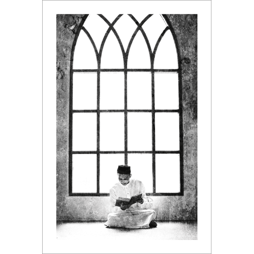 Poster islam-musulman mosquée-noir et blanc