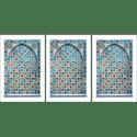 Poster arabe-portes-mosaique triptyque-turquoise