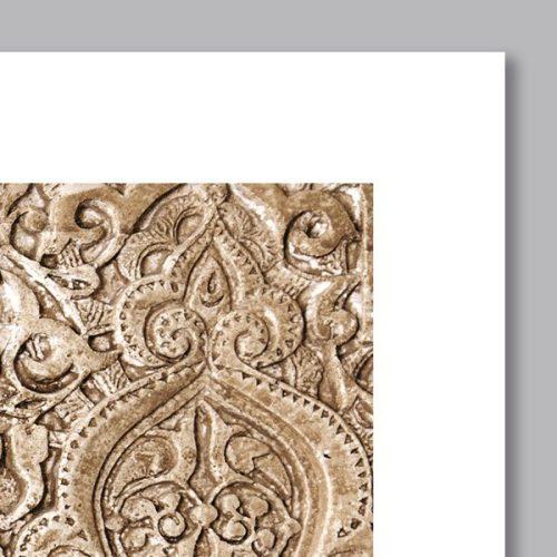 Poster oriental arabesque florale-detail