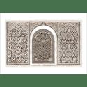 Poster oriental-arabesque-marron