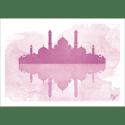 Poster oriental-mosquée aquarel-rose