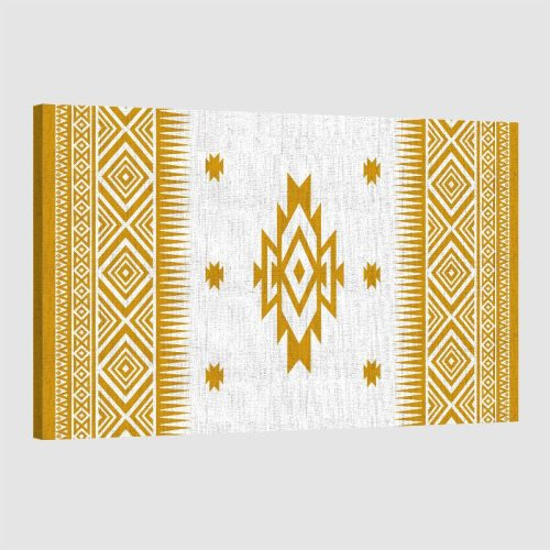 tableau oriental motif berbère-jaune