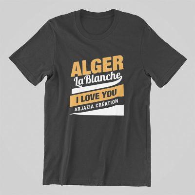 T-shirt algérie-alger la blanche-gris