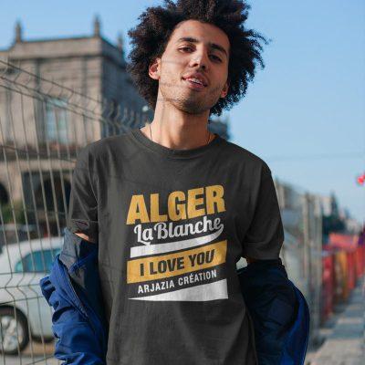 T-shirt algérie-alger la blanche