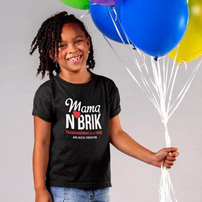 T-shirt arabe fille-mama nbrik