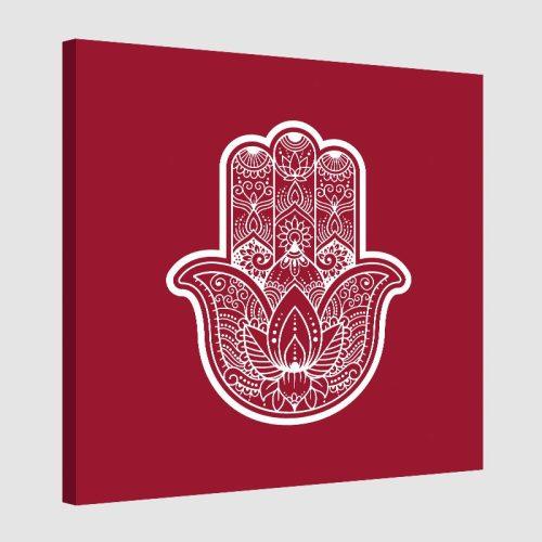Tableau arabe khamsa-rouge