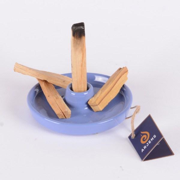 Mavi El Yapımı Seramik Tütsülük