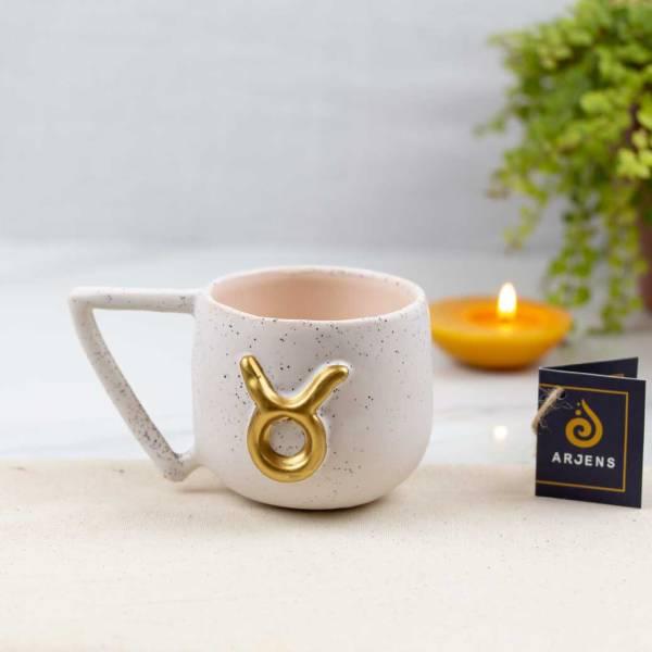 Arjens-handmade-ceramic-Taurus-horoscope-symbol-mug