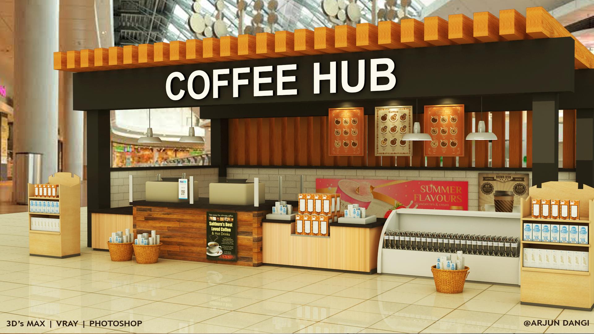 Coffee Hub 3D's Max