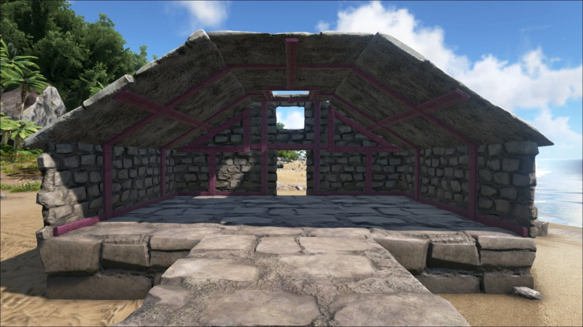 Image Result For Ark Stone Sloped Roof