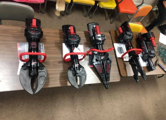 A big thanks to the citizens of Arkadelphia. Arkadelphia Firefighters are unpacking and prepping our new extrication tools to be put in service this week. These tools will allow our rescue crews to be more efficient while working vehicle wrecks. Funded by Move Arkadelphia Forward 2019.