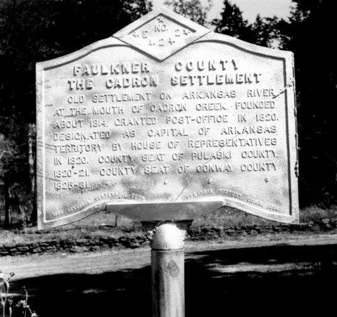 Historic Marker Cadron Settlement