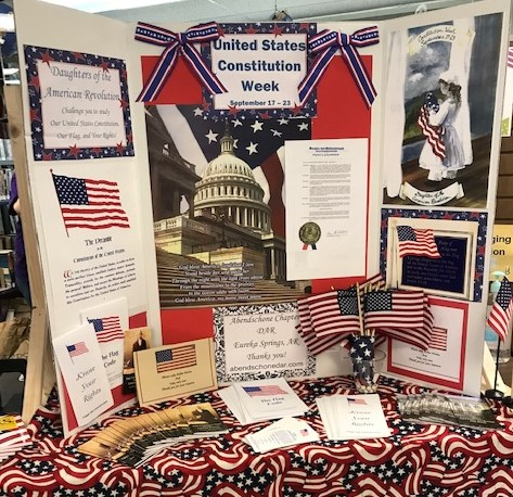 Constitution Week display at Carnegie Library