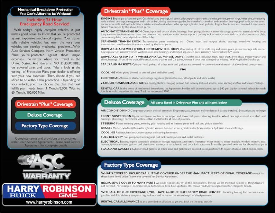 harry robinson warranty