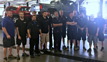 HRBG Service Department Staff. Jeremy, Neal, Ricky, Eddie, Cameron, Brian, Eric, Donald, Reece, Jamie, Quentin, Taylor & Smitty