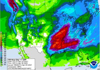 NOAA 7-day precipitation forecast